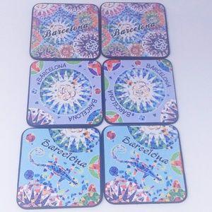 6 Gaudi Barcelona Drink Coasters